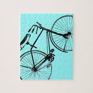 Bicicleta de encargo del vintage del fondo el | de rompecabezas con fotos