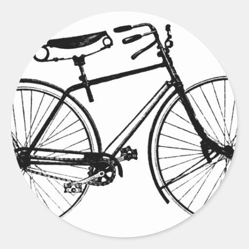 Bicicleta de encargo del vintage del fondo el | pegatina redonda