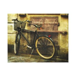 Bicicleta de la calle de Estocolmo Impresiones En Lona Estiradas