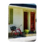Bicicleta de la entrega por dos puertas rojas iman rectangular