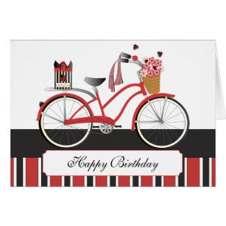 Bicicleta de la mariquita tarjetón