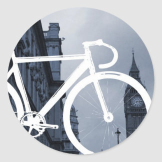 Bicicleta de la pista de Londres Pegatinas Redondas