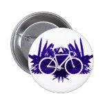 Bicicleta de la pista en violeta pins