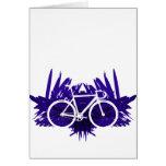 Bicicleta de la pista en violeta tarjetón