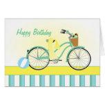 Bicicleta de la playa felicitacion