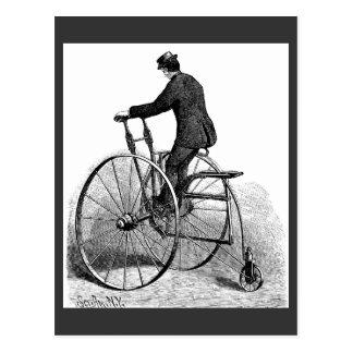 Bicicleta de la rueda del Victorian tres del Tarjeta Postal