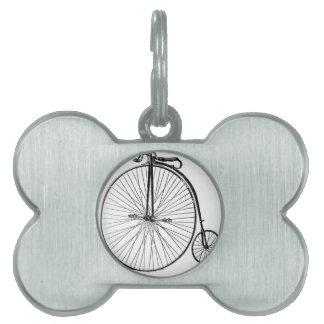 Bicicleta de la rueda grande placa mascota