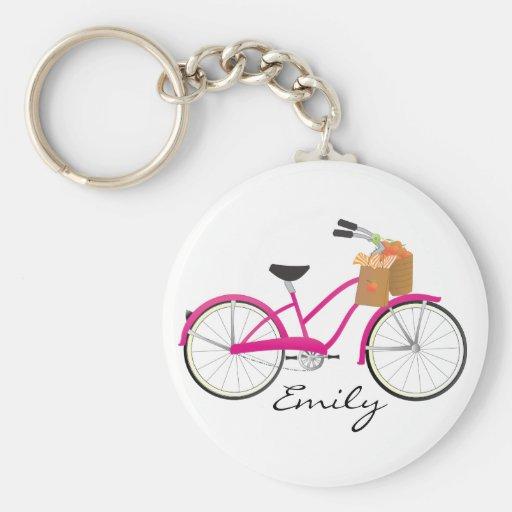 Bicicleta de las rosas fuertes con los naranjas llaveros personalizados