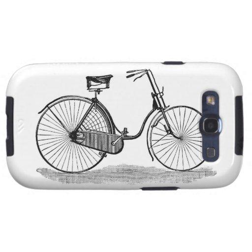 Bicicleta de las señoras del vintage galaxy s3 coberturas