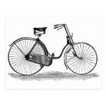 Bicicleta de las señoras del vintage postal