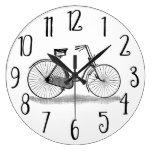 Bicicleta de las señoras del vintage relojes