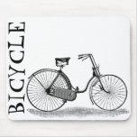 Bicicleta de las señoras del vintage alfombrilla de raton