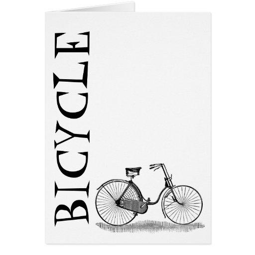 Bicicleta de las señoras del vintage tarjeta pequeña
