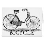 Bicicleta de las señoras del vintage tarjeta de felicitación