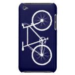 Bicicleta de los azules marinos y del blanco iPod touch Case-Mate cárcasas