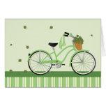 Bicicleta de marzo tarjeta