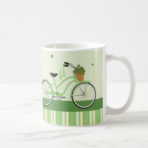 Bicicleta de marzo tazas de café