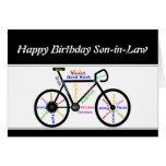 Bicicleta de motivación de la bici del cumpleaños  tarjeta