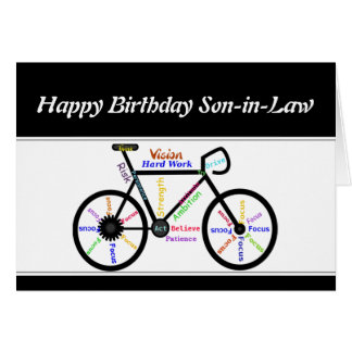 Bicicleta de motivación de la bici del cumpleaños  tarjeta de felicitación