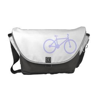 Bicicleta del azul de la lavanda bolsas de mensajería