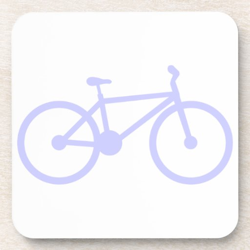 Bicicleta del azul de la lavanda posavaso