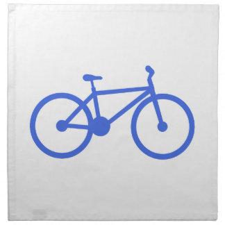 Bicicleta del azul real y del blanco servilletas