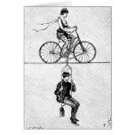 Bicicleta del cable de alta tensión - acto de cicl felicitacion