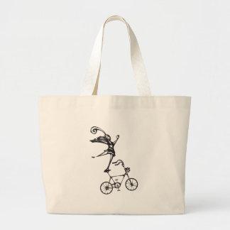 Bicicleta del circo bolsa tela grande