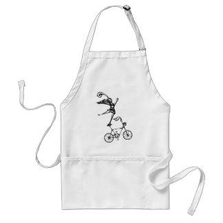 Bicicleta del circo delantal