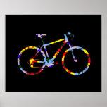 bicicleta del color - decoración biking póster