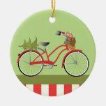 Bicicleta del día de fiesta ornamento para reyes magos