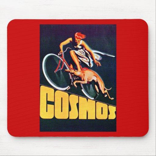 Bicicleta del galgo del cosmos alfombrillas de ratón