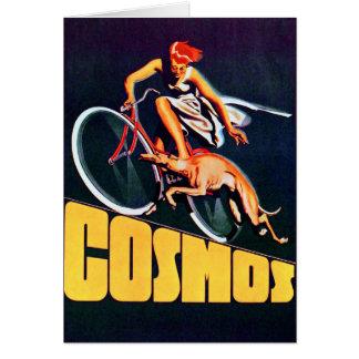 Bicicleta del galgo del cosmos felicitacion