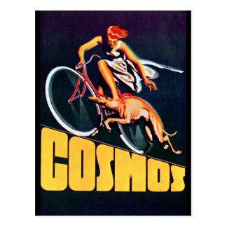 Bicicleta del galgo del cosmos tarjetas postales
