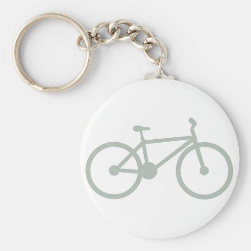Bicicleta del gris de ceniza llavero personalizado