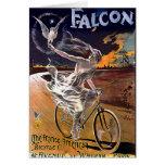 Bicicleta del halcón tarjeta de felicitación