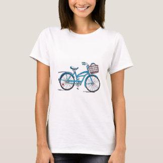 Bicicleta del lunar de la acuarela playera