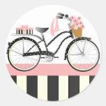 Bicicleta del lunar pegatina redonda