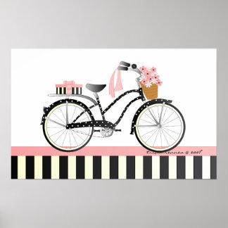 Bicicleta del lunar póster