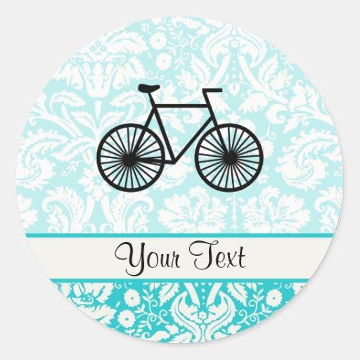 Bicicleta del modelo del damasco; Trullo Pegatina Redonda
