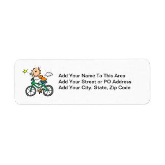 Bicicleta del montar a caballo - varón etiqueta de remite