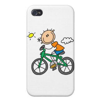 Bicicleta del montar a caballo - varón iPhone 4 protector