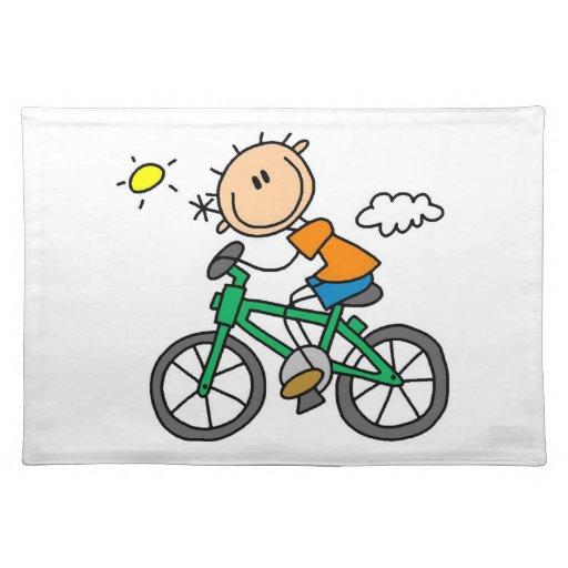 Bicicleta del montar a caballo - varón mantel individual