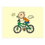 Bicicleta del montar a caballo - varón postal