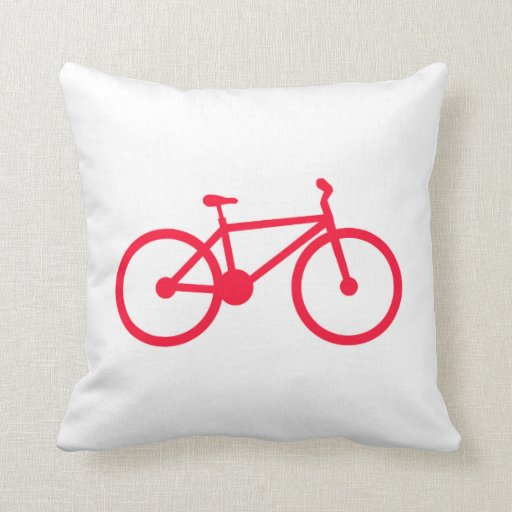 Bicicleta del rojo del escarlata almohada
