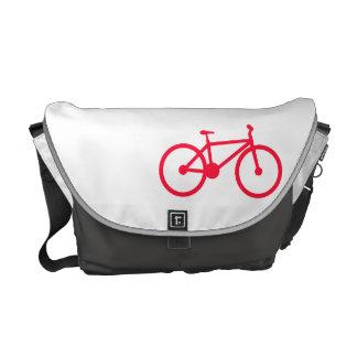 Bicicleta del rojo del escarlata bolsas de mensajeria