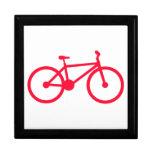 Bicicleta del rojo del escarlata cajas de recuerdo