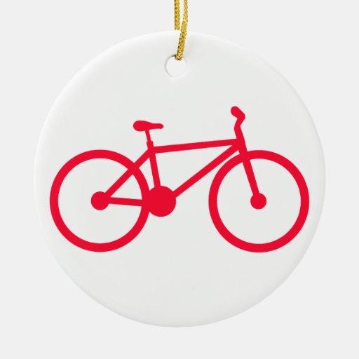 Bicicleta del rojo del escarlata ornamentos de reyes