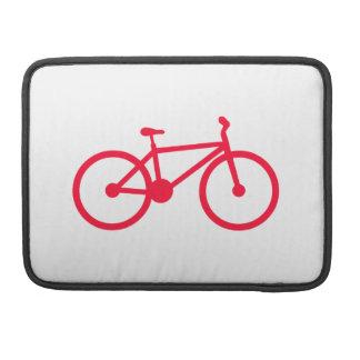 Bicicleta del rojo del escarlata fundas para macbook pro