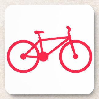 Bicicleta del rojo del escarlata posavasos de bebida